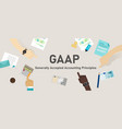 gaap generally accepted accounting principles vector image