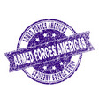 grunge textured armed forces americas stamp seal vector image