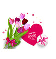 holiday mothers day and box vector image