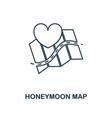Honeymoon map outline icon premium style design