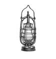 ink sketch kerosene lamp vector image vector image