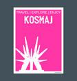 kosmaj south belgrade serbia monument landmark vector image vector image