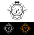 Letter H Luxury Logo template flourishes vector image vector image