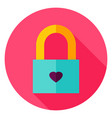 love padlock circle icon vector image
