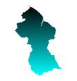Map of Guyana vector image vector image