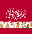 merry christmas celebration winter holiday vector image vector image