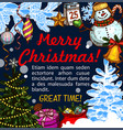 merry christmas happy greeting sketch vector image vector image