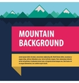 Mountains template advertising layout vector image vector image