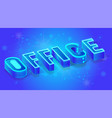 office isometric banner or concept template vector image