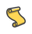 old scroll paper icon cartoon vector image