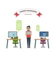 online school leaning programming vector image