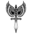 Ornate sword with wings vector image vector image