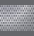 perforated silver pattern vector image vector image