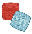 pillows or cases for cushions xmas decor design vector image