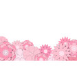 pink wildflowers background paper craftpaper cut vector image vector image
