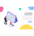 planning schedule concept banner with characters vector image