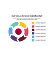 radial infographic element vector image