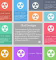 radiation icon sign Set of multicolored buttons vector image