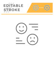 rating editable stroke line icon vector image