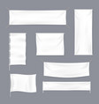 realistic 3d detailed white blank textile vector image vector image