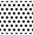 Repeating monochrome star pattern vector image vector image
