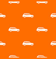 retro car pattern seamless vector image vector image