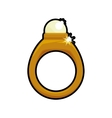 Ring accesory gold jewelry icon graphic vector image vector image