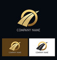 round arrow gold business logo vector image