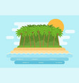 sea landscape with sand beach palms island vector image