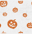 seamless halloween pattern with pumkins jack vector image vector image