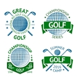 set golf badges logo templates etc vector image