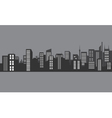 Silhouette city at night with gray color vector image