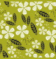 simple flat tropical flower pattern vector image vector image