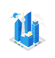 smart city data infrastructure server isometric vector image