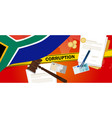 south africa corruption money bribery financial vector image vector image