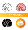 spiral shell icon vector image vector image