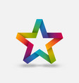star ribbon symbol in rainbow gradient colors vector image vector image
