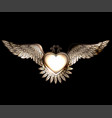 steam punk style heart with wings vector image vector image