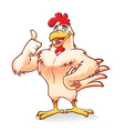Strong Chicken vector image vector image