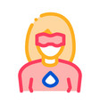 super hero woman icon outline vector image