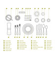 table setting place formal vector image vector image