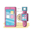 technology devices and multimedia gadget vector image