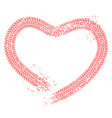 tire tracks heart motorist love hearts tire vector image vector image