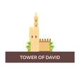 tower of david israel jerusalem flat vector image
