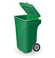 trash can 05 vector image vector image