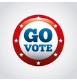 US presidential voting concept vector image vector image