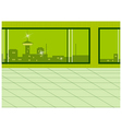 Window city view vector image vector image