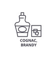 cognac brandy line icon outline sign linear vector image