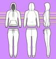 Hoodi and sweatpants set vector image