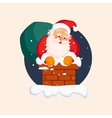 Santa Claus in Chimney on Christmas Eve vector image